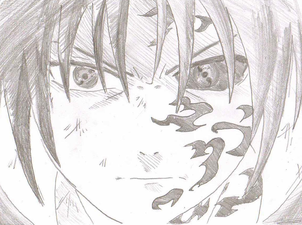 Sasuke Second Stage Curse Seal by ozbushido on DeviantArt