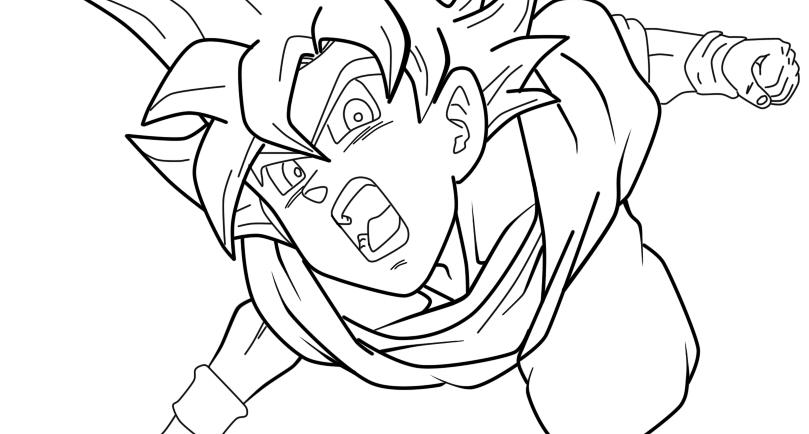 Free Coloring Pages Of Goku Super Saiyan 3: Goku Super Saiyan God Drawings Sketch Coloring Page
