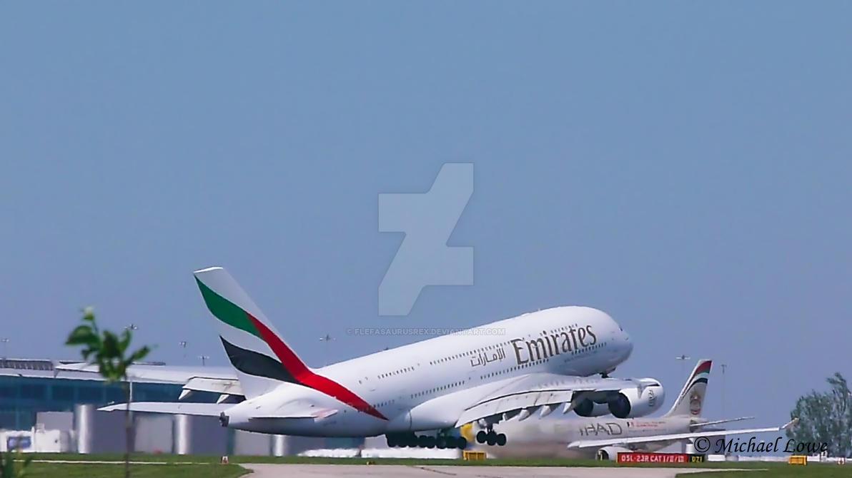 Airbus A380 Takeoff by FlefasaurusRex on DeviantArt