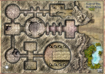 Lair of The Desert King A1 Gridded by Zatnikotel