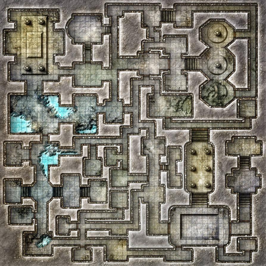 Empty Dungeon Map by Zatnikotel on DeviantArt on