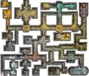 R Dungeon Print White G For VTT