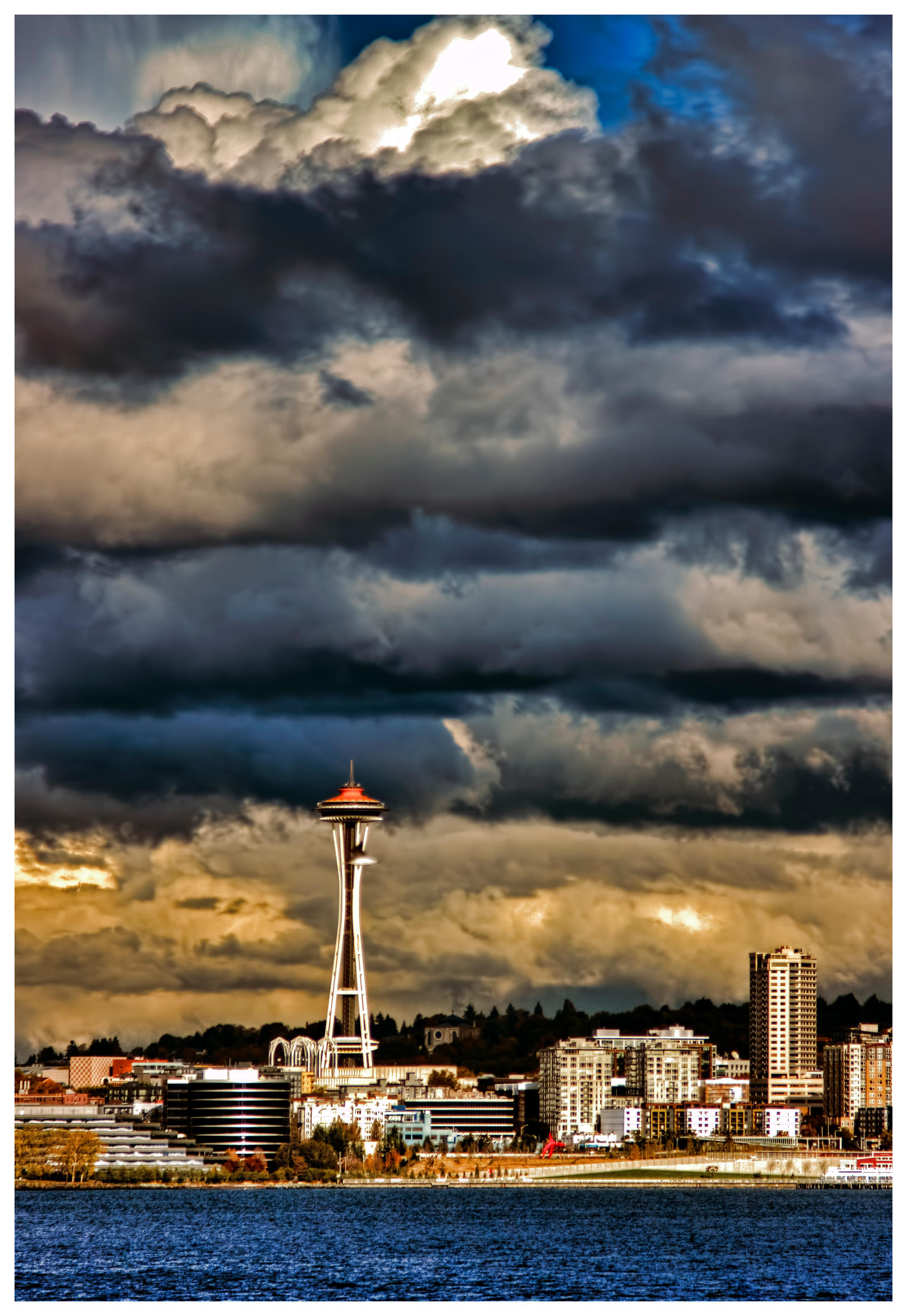 Angry Seattle HDR by Mackingster