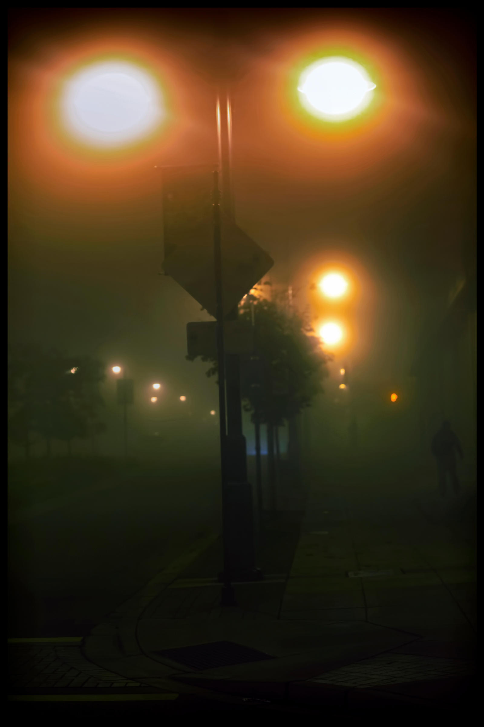 Foggy night by Mackingster