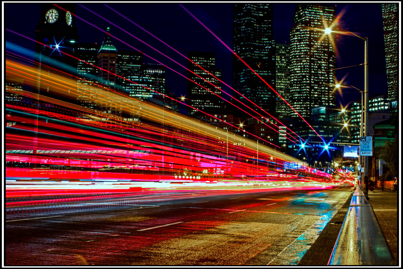 Elegant City Lights In Seattle By Mackingster City Lights In Seattle By Mackingster Good Looking