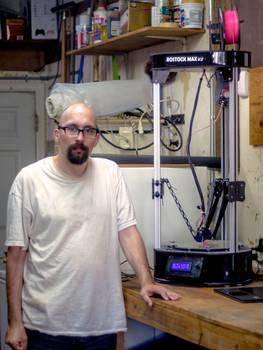 Me and my 3d printer