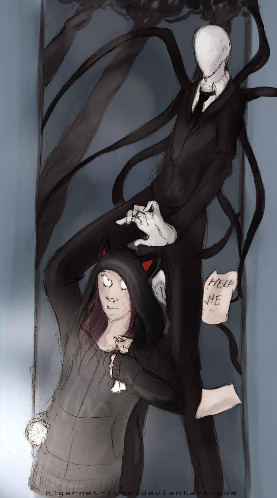 Friendly neighborhood Slenderman by garnet-lynx