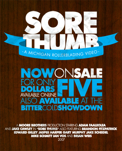 Sore Thumb Sale Flyer. by paperairplane