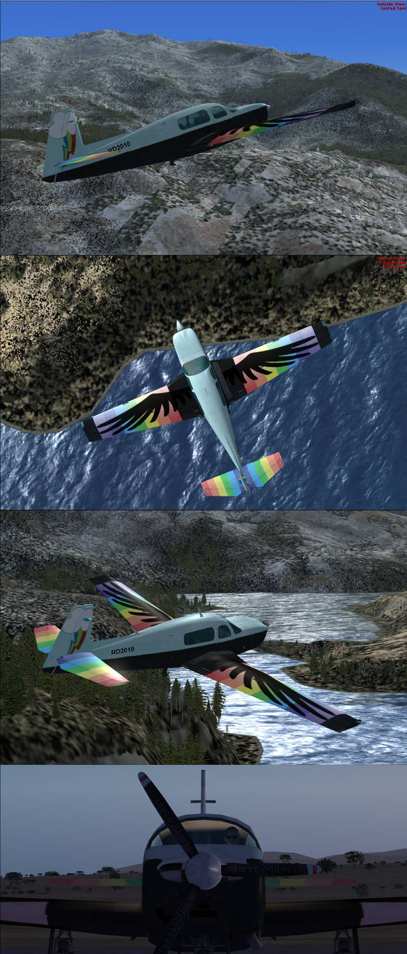 Rainbow Dash Mooney Bravo FSX Livery by BroniePologist on DeviantArt