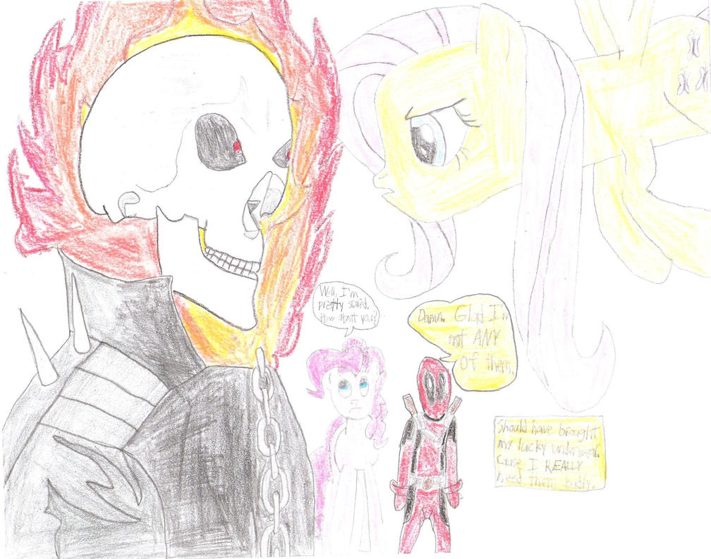 Ghost Rider VS. Fluttershy - Epic Staring Contest by MariovsSonic2008