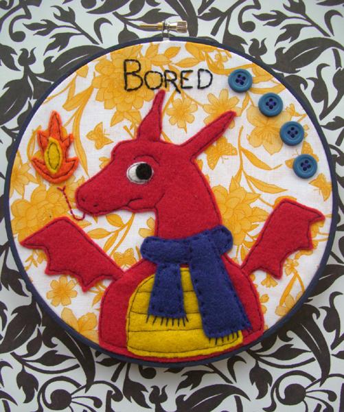 Sherlock Smaug Embroidery Hoop by iggystarpup