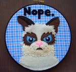 Tard the Grumpy Cat Embroidery 2