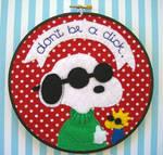 Joe Cool Embroidery Hoop