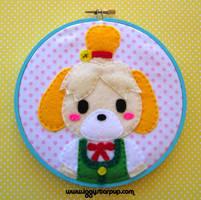 Isabelle Animal Crossing: New Leaf Hoop by iggystarpup