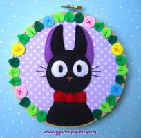 Kiki's Delivery Service Jiji Embroidery by iggystarpup