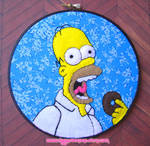Homer Simpson Embroidery