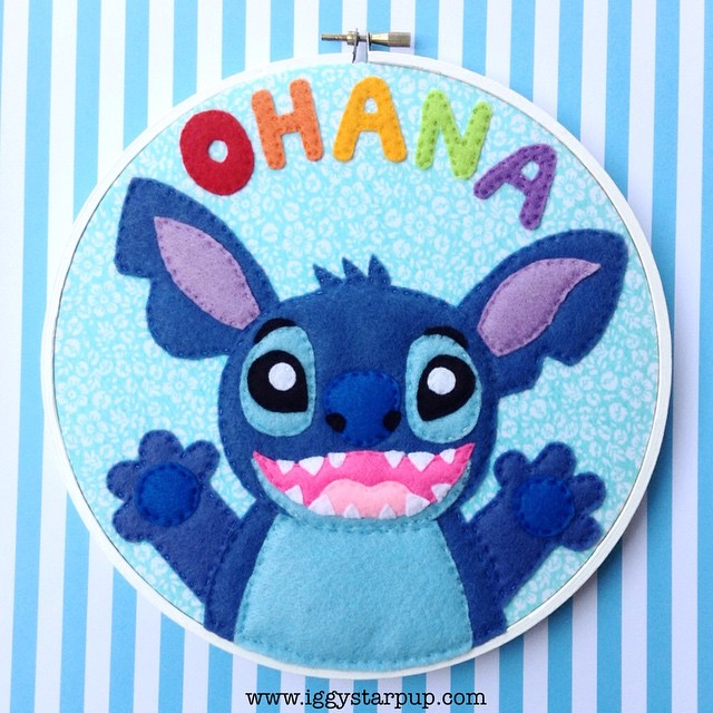 Stitch Ohana Embroidery by iggystarpup