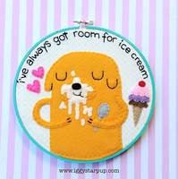 Jake the Dog Ice Cream hoop by iggystarpup
