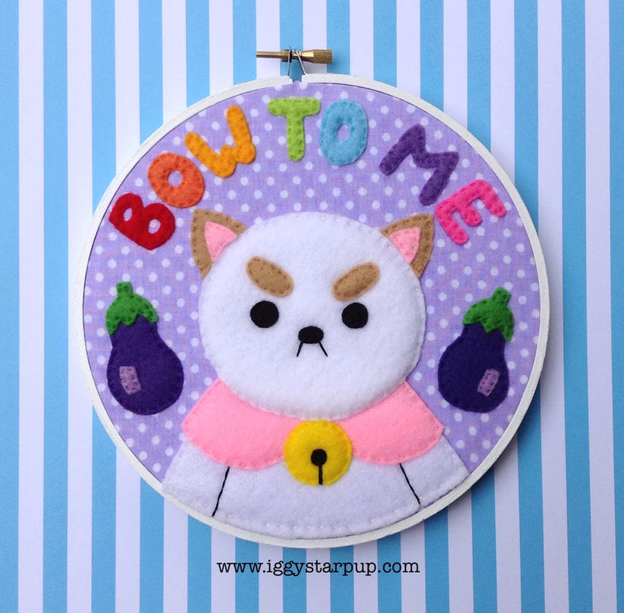 Bee and Puppycat Embroidery by iggystarpup