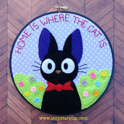 Jiji Home is Where the Cat is Embroidery