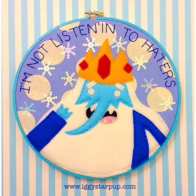 Ice King Embroidery Hoop by iggystarpup