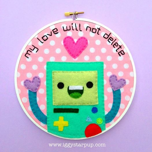BMO My Love Will Not Delete Hoop by iggystarpup