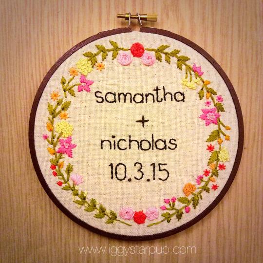 Custom Wedding Embroidery by iggystarpup