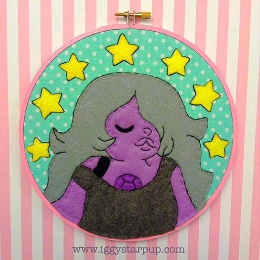 Steven Universe Amethyst Embroidery by iggystarpup