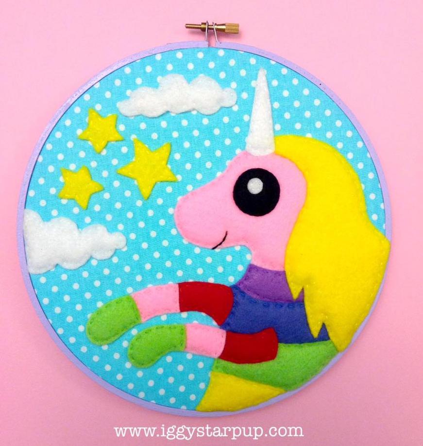Lady Rainicorn Embroidery by iggystarpup