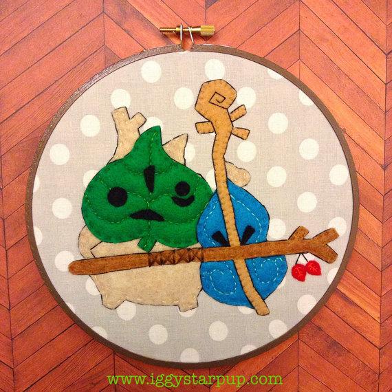 Makar, Sage of Wind Embroidery by iggystarpup
