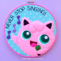 Jiggly Puff Never Stop Singing Hoop by iggystarpup