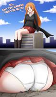 Giantess Rika is Badass