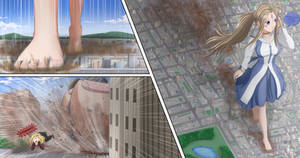 Ah My Goddess Belldandy in the City