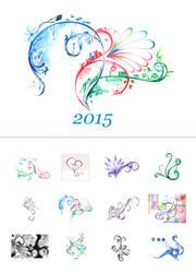 Calendar 2015 by thepurplemonster