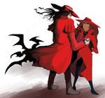 In Red (Alucard\Carmen Sandiego) by fancyfanJ