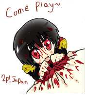 come play~ 2P!Japan by AskHetaOniEngland1