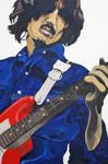 George Harrison -red guitar