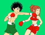 Deku vs Uraraka boxing