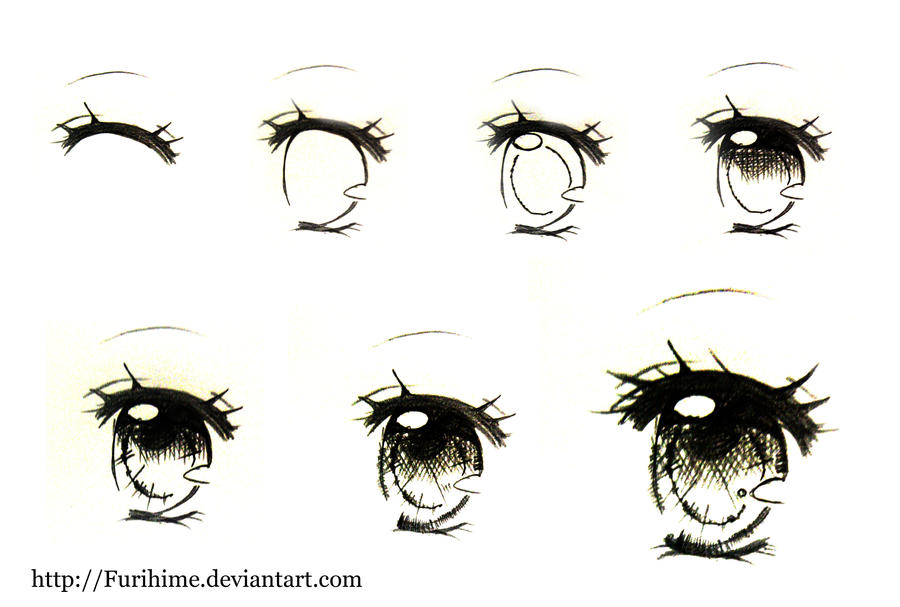 sketch eye step by step by furihime on deviantart