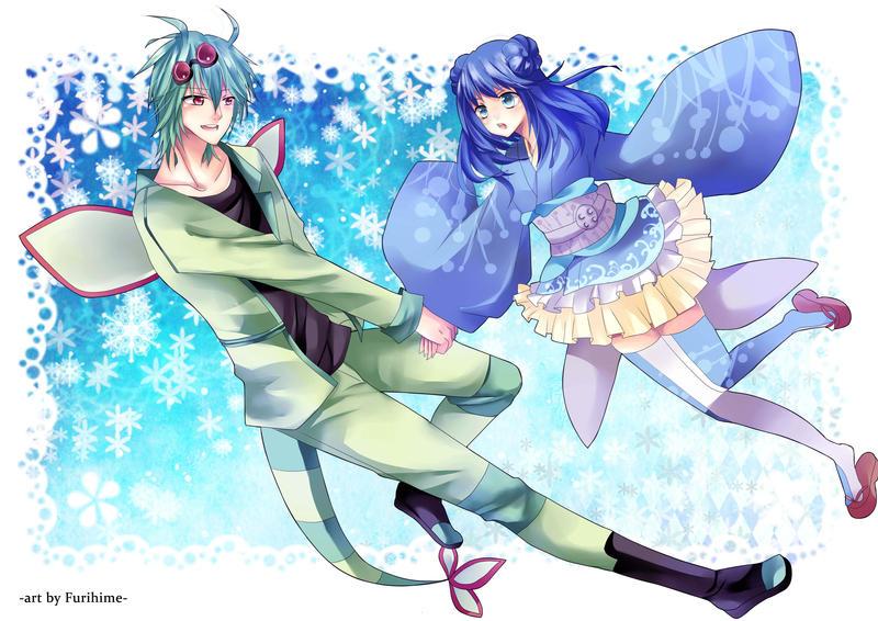 Comm Kiru and Otoha by Furihime