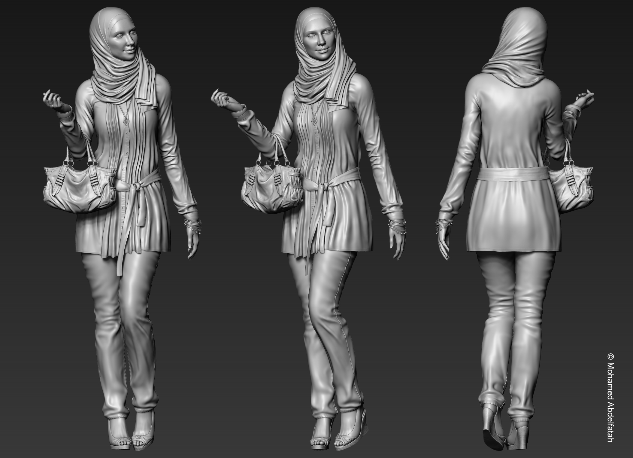 Character Design Artist Interviews : Fairouz sculpt by mabdelfatah on deviantart