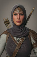 Ghada Cinematic Character close up by mabdelfatah