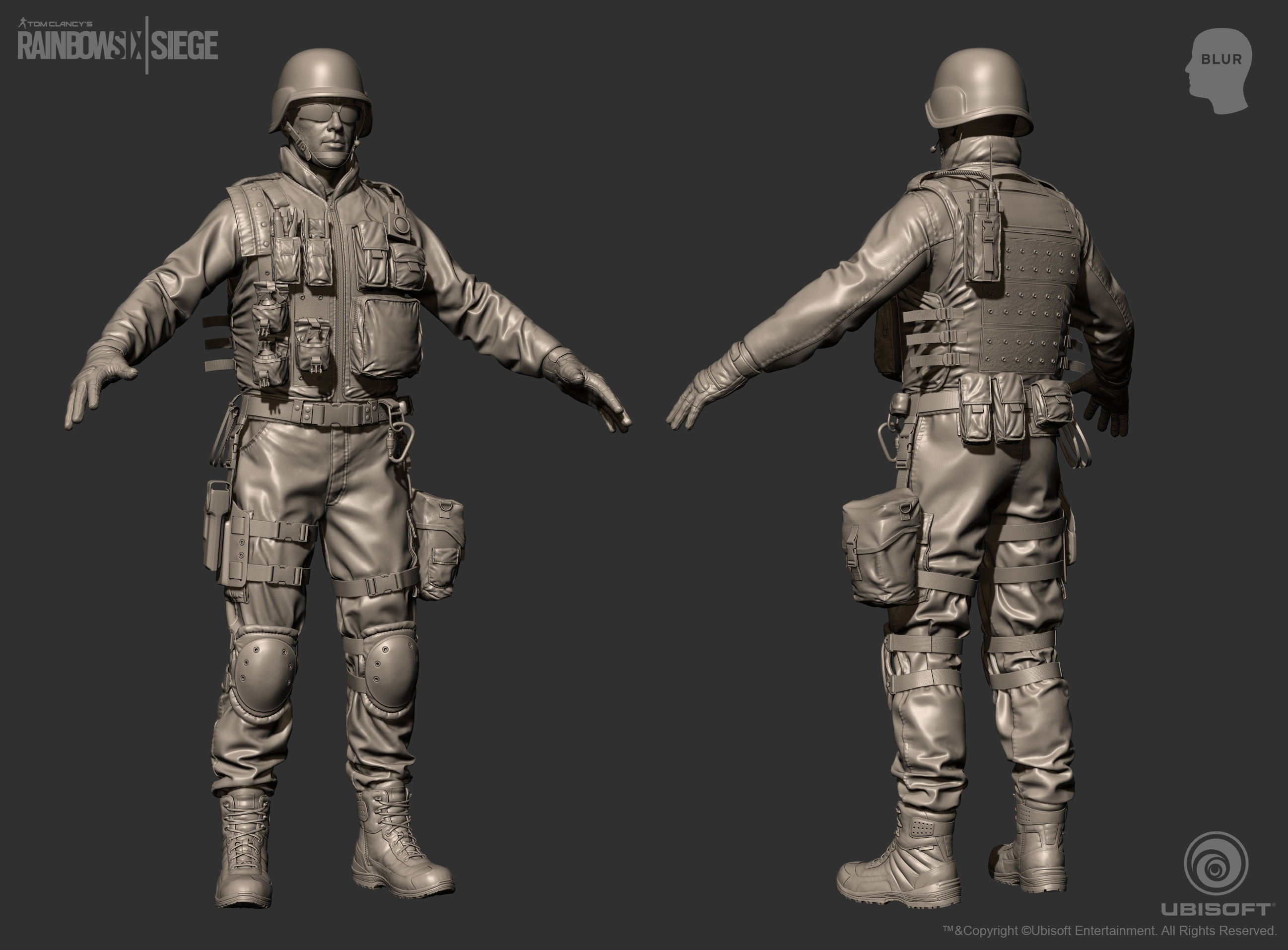 rainbow six siege cinematic swat character