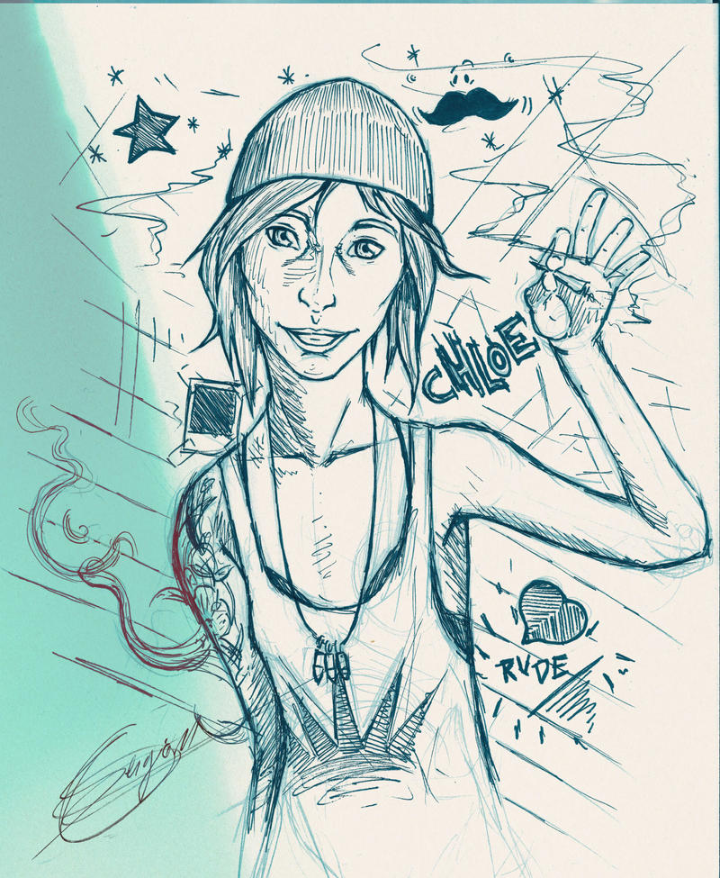 Chloe Sketch Life is strange by MUsashiTong