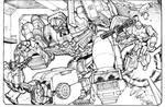 Optimus vs Meggy Devastator