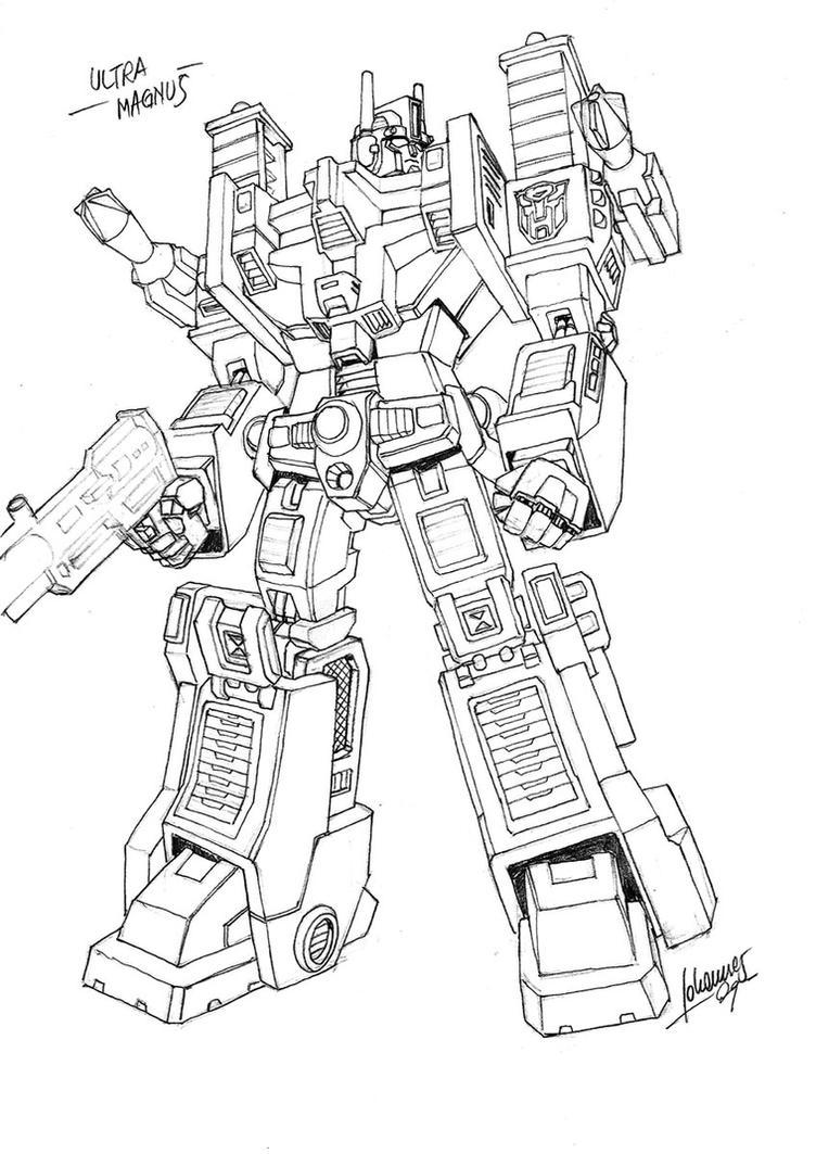 Ultra Magnus - Sketch by Whelljeck