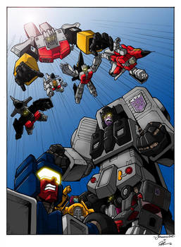 Stunticons Vs Aerialbots (coloured version)