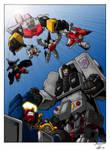 Stunticons Vs Aerialbots (coloured version)