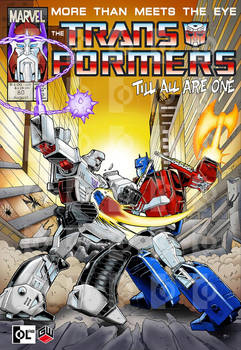 Optimus vs Megatron digital version