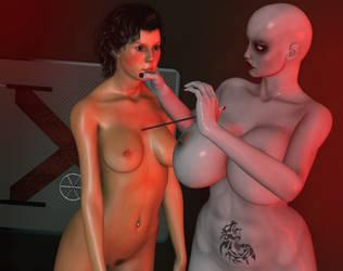 Piercing V by Dollmistress